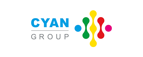 Cyan Group logo works with Flamingo Marketing agency Birmingham